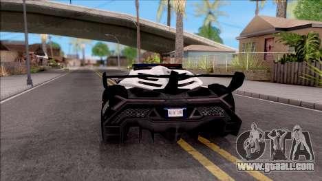 Lamborghini Veneno Police San Fierro for GTA San Andreas back left view