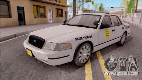 Ford Crown Victoria 2009 Iowa State Patrol for GTA San Andreas