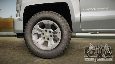 Chevrolet Cheyenne LT 2016 for GTA San Andreas back view