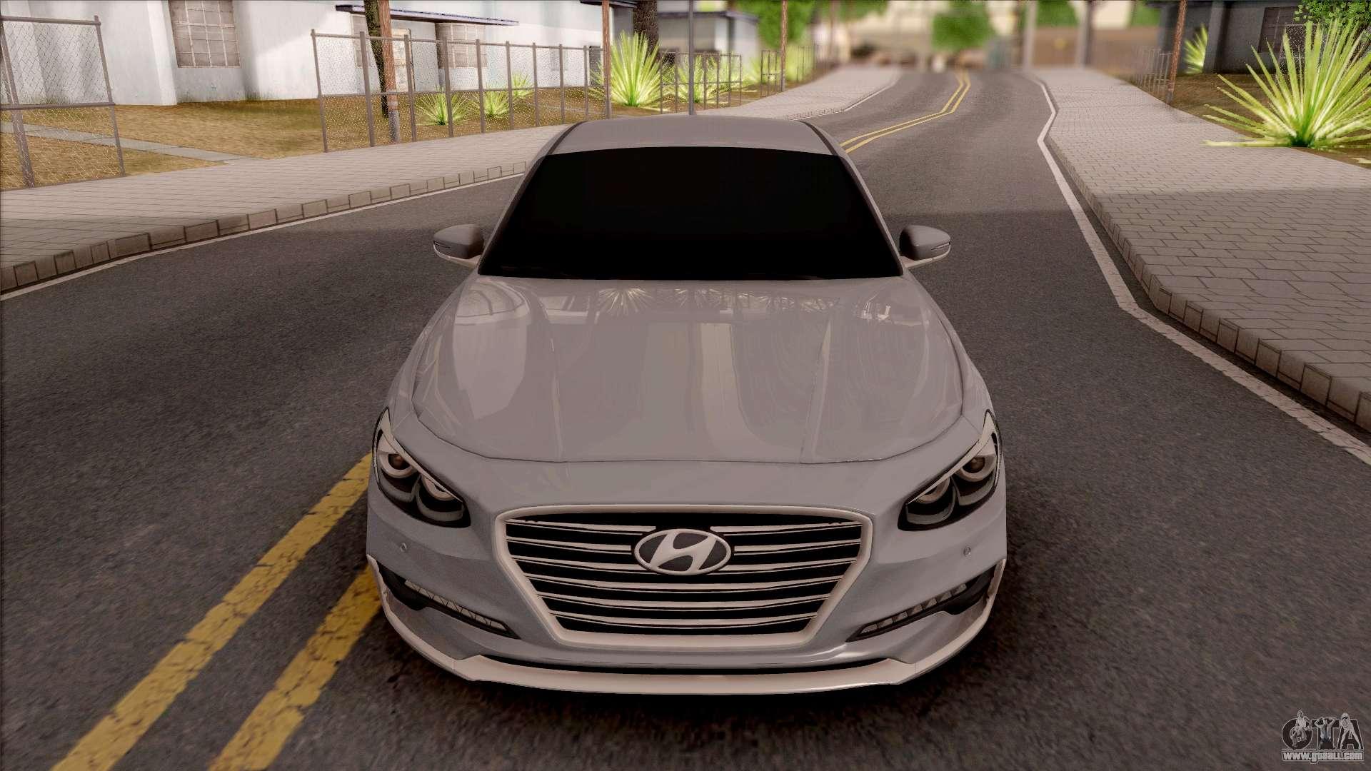 Hyundai Azera 2018 For Gta San Andreas Inner View