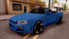Nissan Skyline R34 Cabrio for GTA San Andreas