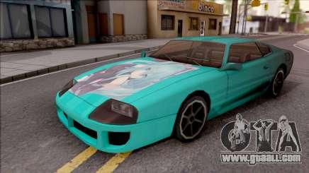 Miku Hatsune Jester Car for GTA San Andreas