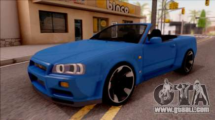 Nissan Skyline R34 Cabrio for GTA San Andreas