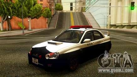 Subaru Impreza WRX STi 2004 Japanese Police for GTA San Andreas