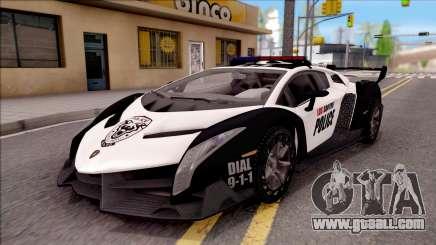 Lamborghini Veneno Police Los Santos for GTA San Andreas