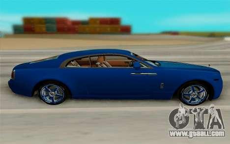 Rolls Royce Wraith for GTA San Andreas left view