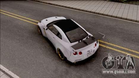 Nissan GT-R R35 LB Walk for GTA San Andreas back view
