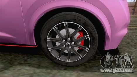 Nissan Juke Nismo RS 2014 for GTA San Andreas back view
