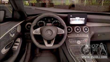 Mercedes-Benz C250 AMG Line v1 for GTA San Andreas inner view