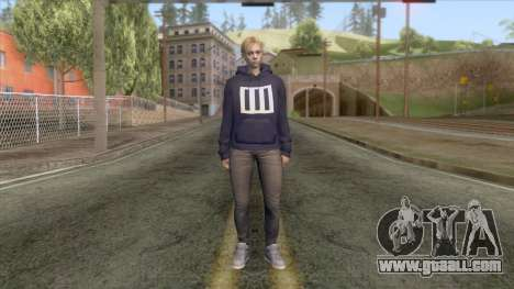 Jill Valentine Casual (Paramore Fan) for GTA San Andreas second screenshot