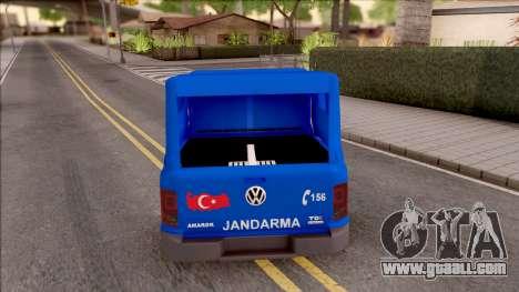 Volkswagen Amarok Turkish Gendarmerie Vehicle for GTA San Andreas back left view