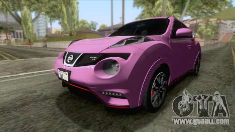 Nissan Juke Nismo RS 2014 for GTA San Andreas back left view