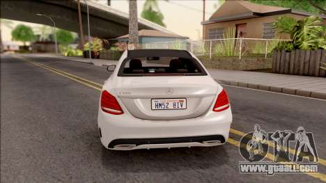 Mercedes-Benz C250 AMG Line v1 for GTA San Andreas back left view