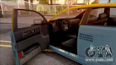 GTA V Vapid Unnamed Taxi for GTA San Andreas inner view