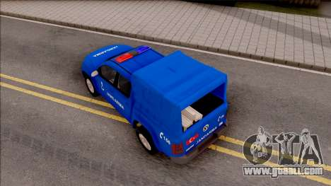 Volkswagen Amarok Turkish Gendarmerie Vehicle for GTA San Andreas back view