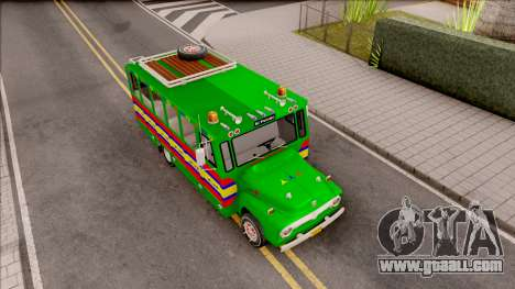 Ford F-350 Chiva Rumbera for GTA San Andreas right view