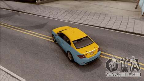 GTA V Vapid Unnamed Taxi for GTA San Andreas back view