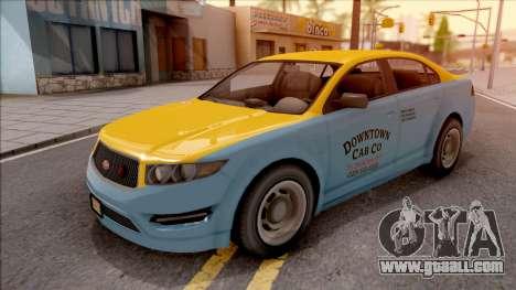 GTA V Vapid Unnamed Taxi for GTA San Andreas