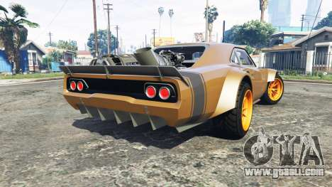 GTA 5 Dodge Charger Fast & Furious 8 [add-on] rear left side view