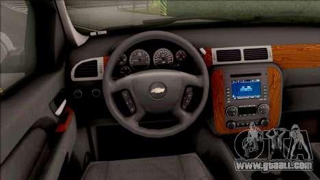 Chevrolet Tahoe LTZ 2008 IVF for GTA San Andreas inner view