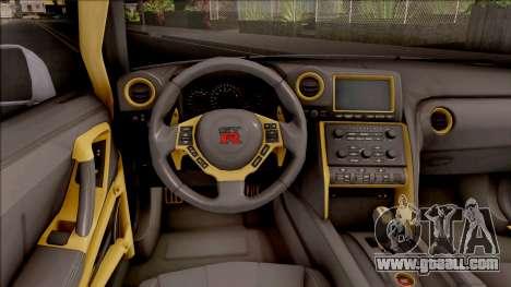 Nissan GT-R R35 LB Walk for GTA San Andreas inner view