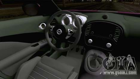 Nissan Juke Nismo RS 2014 for GTA San Andreas inner view