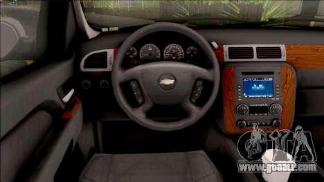 Chevrolet Tahoe LTZ 2008 for GTA San Andreas inner view