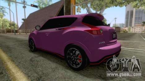 Nissan Juke Nismo RS 2014 for GTA San Andreas right view
