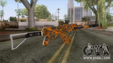 CoD: Black Ops II - AK-47 Lava Skin v2 for GTA San Andreas second screenshot