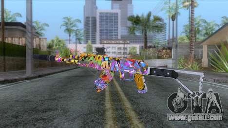 CoD: Black Ops II - AK-47 Graffiti Skin v2 for GTA San Andreas second screenshot