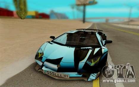 Lamborghini Aventador SV 2015 for GTA San Andreas left view