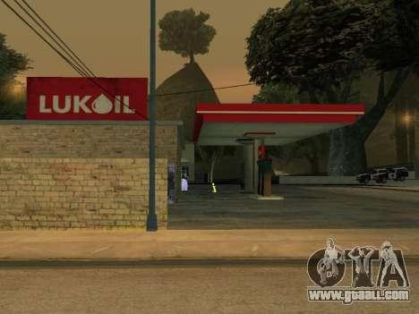 Lukoil Gas Station for GTA San Andreas third screenshot