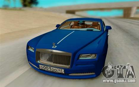 Rolls Royce Wraith for GTA San Andreas right view
