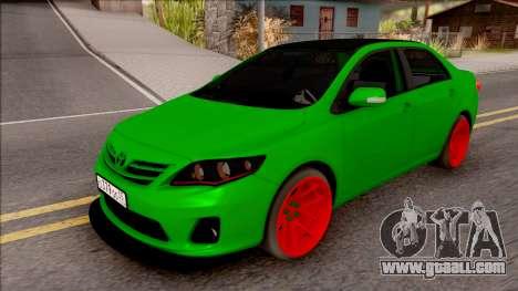 Toyota Corolla Green Edition for GTA San Andreas