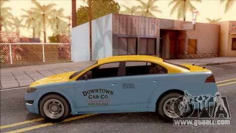 GTA V Vapid Unnamed Taxi for GTA San Andreas left view