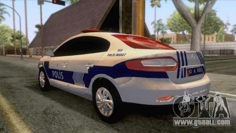 Renault Fluence Turkish Police Car for GTA San Andreas right view