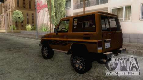 Toyota Land Cruiser FJ70 2005 for GTA San Andreas right view