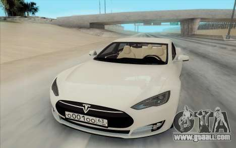 Tesla Model S for GTA San Andreas right view