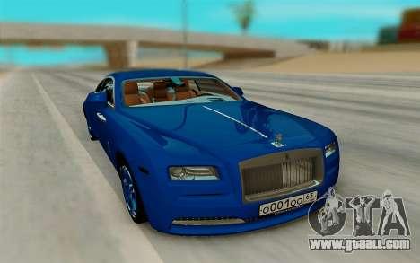 Rolls Royce Wraith for GTA San Andreas