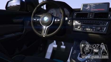GTA 5 BMW M2 2016 rear left side view