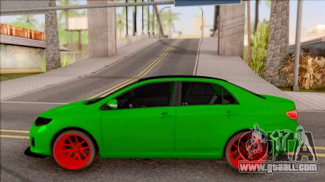Toyota Corolla Green Edition for GTA San Andreas left view
