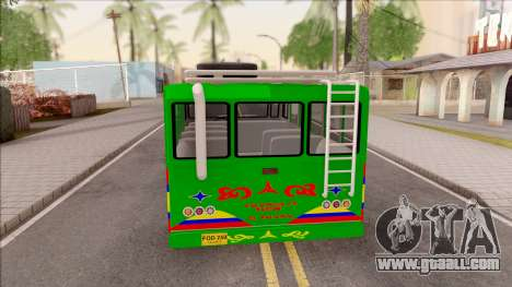 Ford F-350 Chiva Rumbera for GTA San Andreas back left view