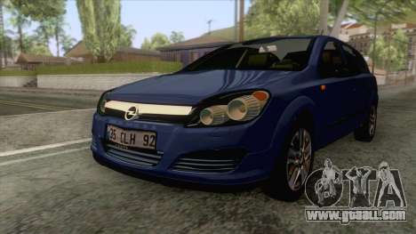 Opel Astra H for GTA San Andreas back left view