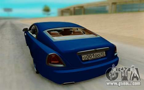 Rolls Royce Wraith for GTA San Andreas back left view