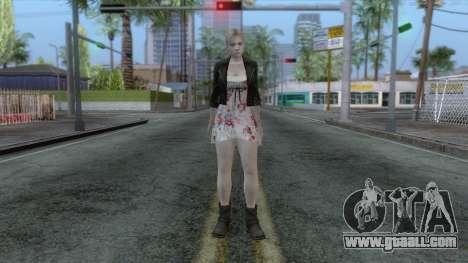 Jill Valentine Dress v1 for GTA San Andreas second screenshot