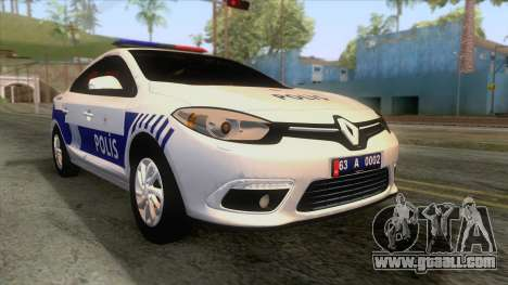 Renault Fluence Turkish Police Car for GTA San Andreas