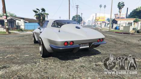 GTA 5 Chevrolet Corvette Sting Ray (C2) [replace] rear left side view