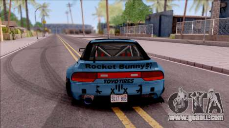 Nissan 240SX 1994 Rocket Bunny RB Performance for GTA San Andreas back left view