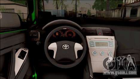 Toyota Corolla Green Edition for GTA San Andreas inner view