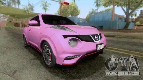 Nissan Juke Nismo RS 2014 for GTA San Andreas